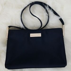 Apostrophe Navy Blue Nylon Shoulder strap Bag
